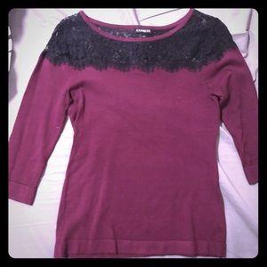 Express light sweater, deep red